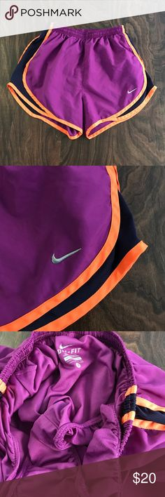 Nike Athletic Shorts Nike athletic shorts - size small. Have a liner. Excellent condition! *price firm* Nike Shorts