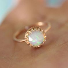 $1.82 - Woman 18Kt Rose Gold Filled Fire Opal Gemstone Wedding Bridal Party Jewelry Ring #ebay #Fashion