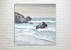 Ocean Painting Art Acrylic Original // Moving On by KatieJobling