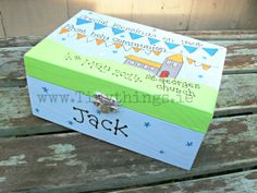 Personalised Communion Memory Box (boys) Communion, Holi, Toy Chest, Storage Chest, Decorative Boxes, Memories, My Love, Home Decor, Products