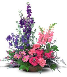 """The beautiful """"Garden Fresh Blooms"""" Bouquet. What refreshes your spirits more than a stroll through a country garden? Give someone special an arrangement that inspires the senses."""