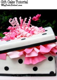 How to Make a Gift Cake! A Cake Decorating Video Tutorial by My Cake School!