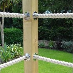 Decking supplies/materials from Farmac in Pudsey, near Leeds/Bradford Rope Fence, Rope Railing, Patio Railing, Balcony Railing Design, Deck Design, Hillside Landscaping, Outdoor Landscaping, Building A Floating Deck, Timber Supplies