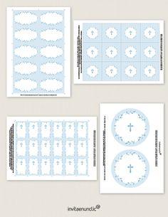 Colección de imprimibles Corona de hojas para comunión   Invitaenunclic