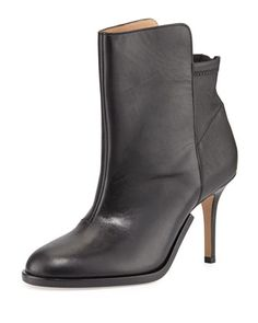 Stretch-Back Leather Ankle Boot, Black by Maison Martin Margiela at Bergdorf Goodman.