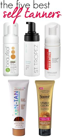 The 5 Best Self Tanners on the market today. Non-streaky, no scent, mess free and natural! Looking to self tan? Start here and get the products you need! For more details contact Gina: Gchen85@gmail.com