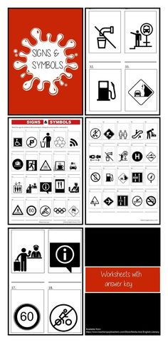 A fun Media Arts interactive flashcard game to help students experiment with familiar and unfamiliar signs and symbols. There are 48 flashcards and a comprehensive lesson plan for you to teach signs and symbols to students in grades Visual Literacy, Media Literacy, Literacy Skills, High School Classroom, High School Students, English Activities, Teacher Resources, Flashcard