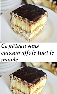 This no-bake cake freaks everyone out - Recette Tarte - Desserts Dessert Recipes For Kids, Kids Cooking Recipes, Ww Desserts, Kid Recipes, Dinner Recipes, Sweet Recipes, Cake Recipes, Desserts With Biscuits, How To Cook Potatoes