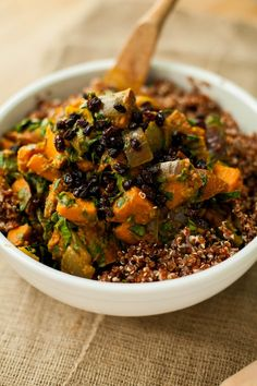 Sweet Potato, Curry, and Quinoa