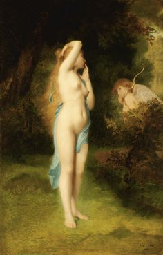 Venus and Cupid - Emile Levy  1862