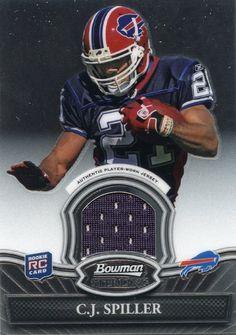 C.J. Spiller of Buffalo Bills 2010 Bowman Sterling Rookie Jersey #BSR-CJS http://clektr.com/K5f