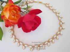 Classic Pearl Beaded Necklace - YouTube