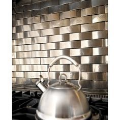 Rückwand Gestaltung Mit Mosaik Fliesen In Metallic Look | Küchenrückwand /  Spritzschutz Küche | Pinterest | Kitchen Decor, Kitchens And Room