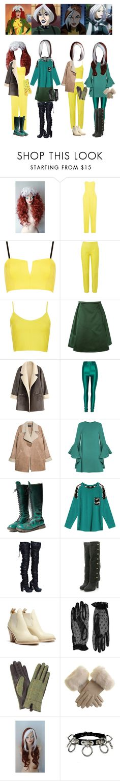 """""""Anna Marie - Ladies and gentlemen, the Rogue"""" by everysimpleplan ❤ liked on Polyvore featuring John Zack, Topshop, Amanda Wakeley, Acne Studios, MANGO, Dr. Martens, WithChic, Thomas Wylde, Accessorize and marvel"""