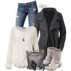 """""""Cardi & Lace"""" by tmlstyle on Polyvore"""