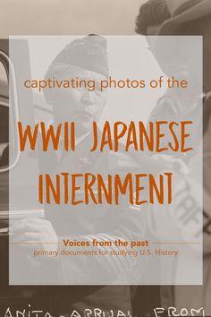 primary document source / World War II / WWII / U.S. History / Dorothea Lange / Japanese internment #greatprimarysources
