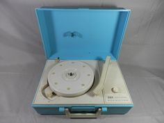 Vintage RCA Victor Solid State Record Player 4 Speed Turntable Portable Phonograph Blue Plastic Case PARTS or REPAIR by WesternKyRustic on Etsy