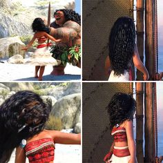 "«""moana"" Hair motion» Via Art & Animation on facebook"