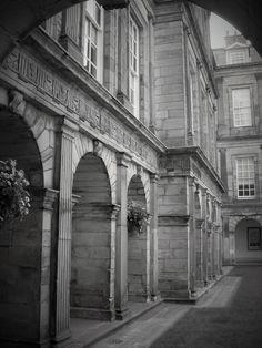 This was a courtyard at Hollyrood Castle , Edinburgh, Scotland