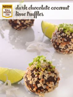 Dark Chocolate Coconut Lime Truffles