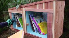 Tiny library love. #GiveBooks