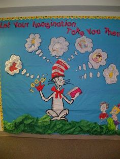 Dr Seuss and Read Across America Bulletin Board Idea: Let Your Imagination Take You There!