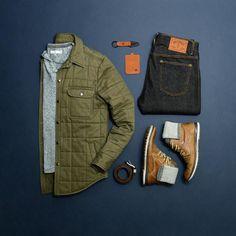 #mycreativelook Fob & Wallet: @woolly.us Shirt: @paperdenimcloth Jacket & Belt: @fossil Black Wash Denim: @hartndagger Boots: @aldo_shoes Socks: @dickiesofficial