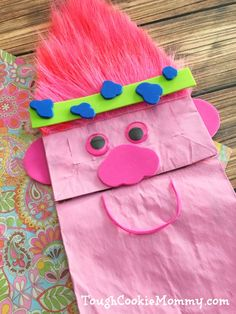 Trolls Puppet Craft - Tough Cookie Mommy