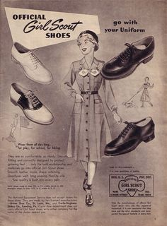 Ad for Official Girl Scout Shoes.
