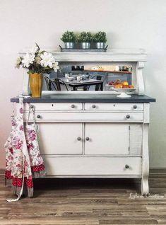 Chalk Paint Furniture, Funky Furniture, Furniture Makeover, Repurposed Furniture, Furniture Ideas, Farmhouse Buffet, Farmhouse Furniture, Kitchen Furniture, Farmhouse Decor