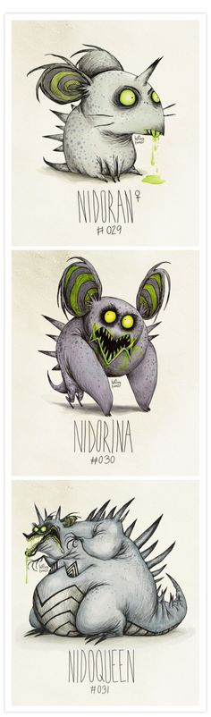 Pokemon in the style of Tim Burton