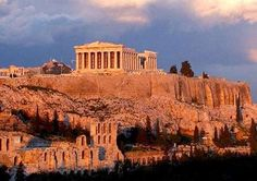 Acropolis and the Parthenon in Athens, Greece