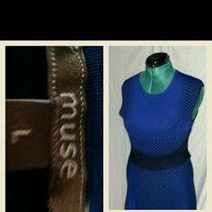 Blue and Black Dress Large, worn twice. Muse Dresses