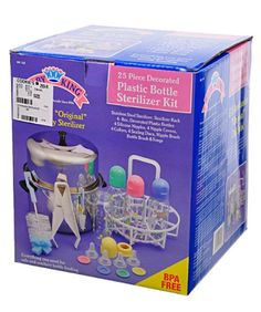 "Plastic Bottle Sterilizer Kit 25 Pcs the ""Original"" Baby Stainless Steel Sterilizer - 25 Items  by Baby King"