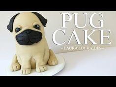 nice How to make a Pug Cake - Laura Loukaides Easy Dog Cake Recipe, Dog Cake Recipes, Pug Cake, Bulldog Cake, Fondant Cakes, Cupcake Cakes, Cupcakes, Food Cakes, Pug Birthday Cake