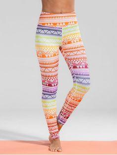ca4ef6e249 High Waisted Geometric Print Gym Yoga Leggings - COLORMIX M Yoga Pants, Gym  Pants,