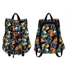 Harry Potter School Crests allover print Knapsack Backpack Bookbag New