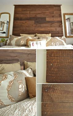 Diy rustic home decor rustic home decor add a palette headboard to your bedroom best rustic . diy rustic home decor fantastic and easy wooden Brown Home Decor, Diy Home Decor Rustic, Diy Home Decor Bedroom, Living Room Decor Tips, Affordable Home Decor, Home Decor Store, Cozy House, Home Decor Accessories, Home Projects