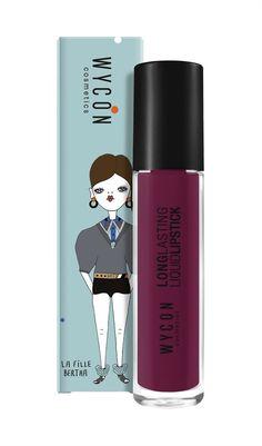 Red 1860 Liquid Lipstick by La Fille Bertha Liquid Lipstick, Usb Flash Drive, Eyeliner, Make Up, Cosmetics, Red, Eye Liner, Makeup, Beauty Makeup