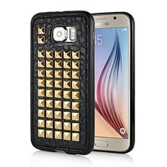Samsung Galaxy S6 Case Leather Premium TPU Protective Rivet Stud Case Cover Skin (variations)