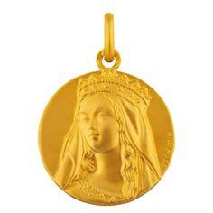 Médaille de bapteme en or, médaille Vierge Couronnée, médaille Arthus Bertrand