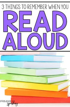Three things to remember when you read aloud.  I love the first tip! Plus, lots of great read aloud suggestions for primary students and a few great reminders about why we should read aloud.
