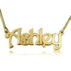 Zacria Emily Silver Tone Name Necklace