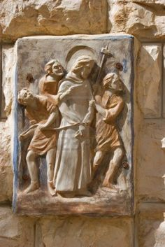 A Bas-relief With Jesus Christ's Image On A Wall Of Church Of Jerusalem