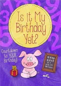 Personalized Is It My Birthday Yet Story Book