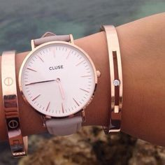cluse rose gold watch - Google Search #luxuryregalos