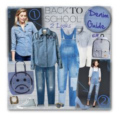 """Back to School: Denim Guide."" by shiningstars17 ❤ liked on Polyvore"