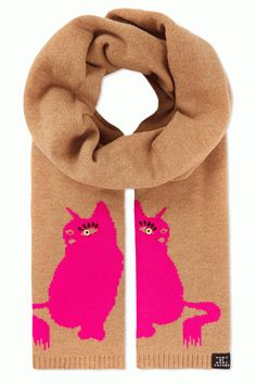 Marc by Marc Jacobs - Pink Cat Scarf Cat Scarf, Cat Shoes, Here Kitty Kitty, Kitty Cats, Unique Cats, Pink Cat, Cute Hats, Cat Gifts, Baby Cats