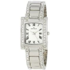 Anne Klein Women's 10-7127SVSV Swarovski Crystal Accented Silver-Tone Watch (Watch) | click image for more information or to buy it