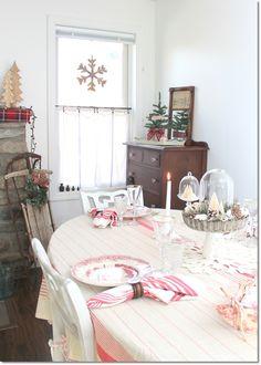 Blue Cottage Christmas Home Tour. Dagmar's Home, DagmarBleasdale.com #cottage…